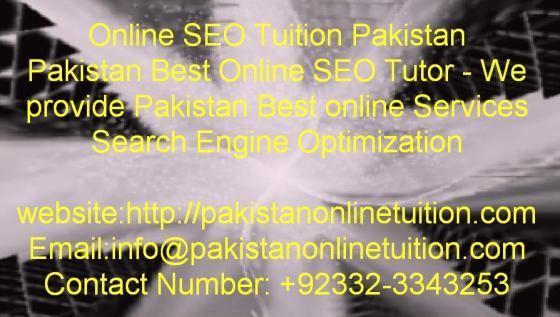 Online SEO Tutor Pakistan